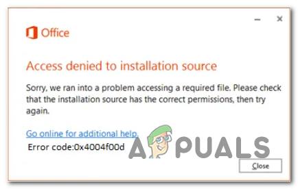 Zugriff auf Office-Fehler der Installationsquelle verweigert