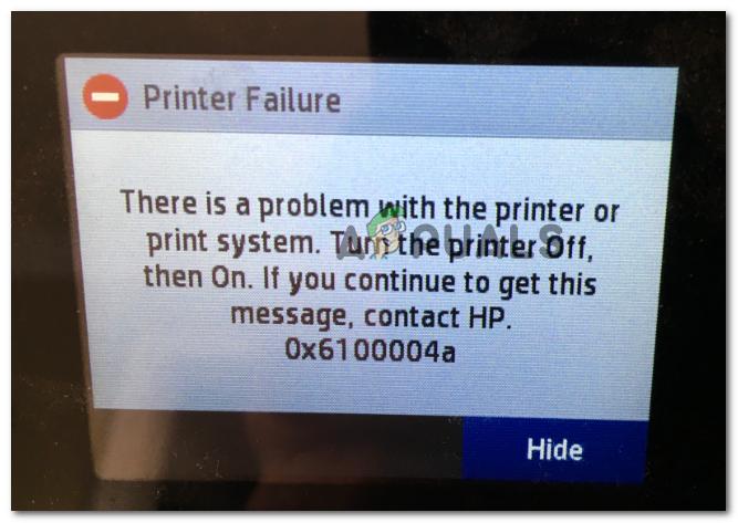 Wie behebt man den HP Druckerfehler 0x6100004a?