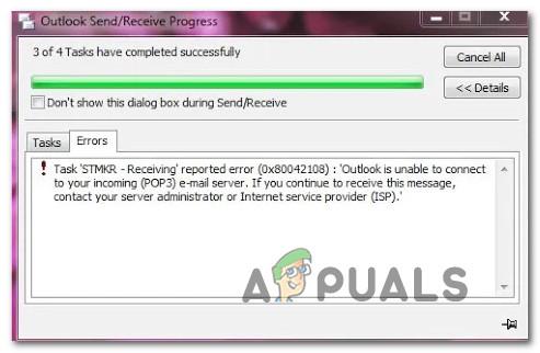 Wie behebe ich den Outlook-Fehler 0x8004210B unter Windows?