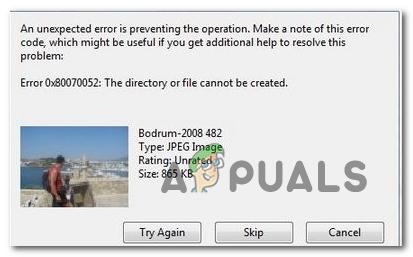So beheben Sie den Fehler 0x80070052 'Das Verzeichnis oder die Datei kann nicht erstellt werden'