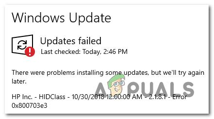 Wie behebt man den Windows Update-Fehler 0x800703e3?