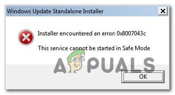 Wie behebt man den Windows Update-Fehler 0x8007043c?