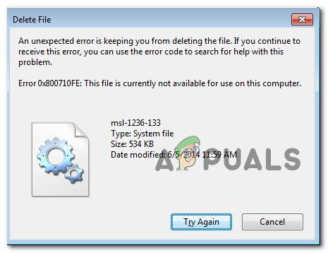 So lösen Sie 0x800710FE auf, wenn Sie versuchen, eine Datei zu löschen