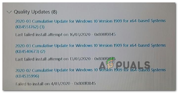 Wie behebt man den Update-Fehler 0x800f0845 unter Windows 10?