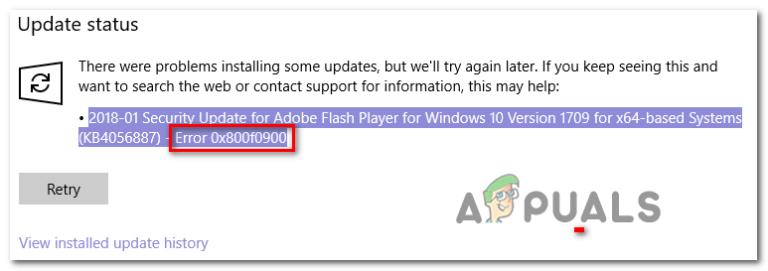 Wie behebt man den Windows Update-Fehler 0x800f0900?