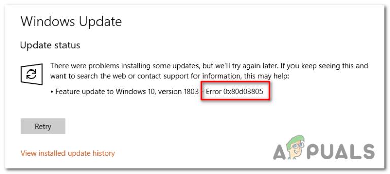Wie behebt man den Microsoft Store-Fehler 0x80D03805?