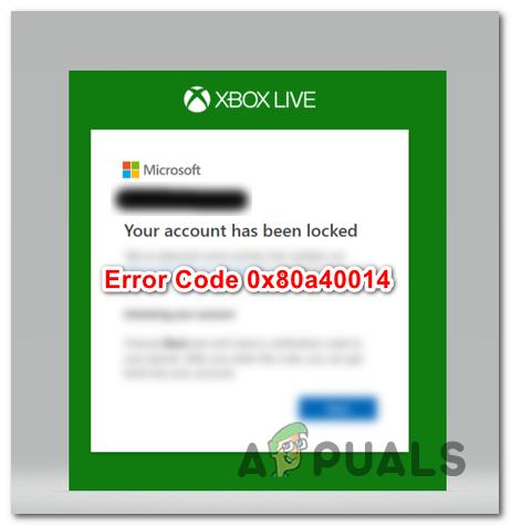 """Behebung des Fehlers """"Ihr Konto wurde gesperrt"""" (0x80a40014) auf Xbox One"""