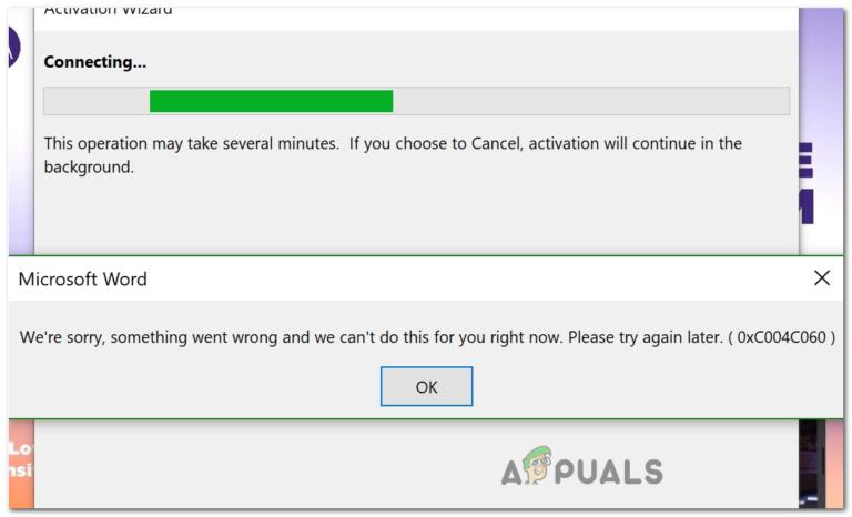 Wie behebt man den Microsoft Office-Aktivierungsfehler 0xc004c060?