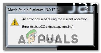 [FIX] Fehlercode 0xc0AA0301 (Nachricht fehlt)