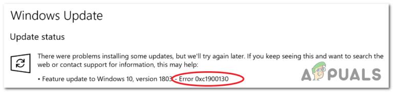 Wie löse ich den Windows Update-Fehler 0xc1900130?