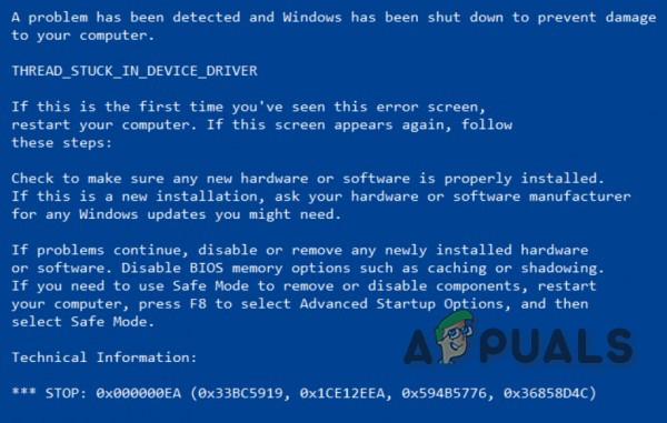 Behebung des 0x000000EA-Bluescreen-Fehlers