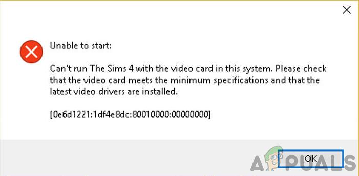 Wie behebe ich den Sims 4 Grafikkartenfehler?