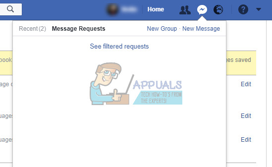 Wie finde ich versteckte und gefilterte Nachrichtenanfragen auf Facebook?
