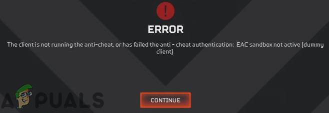 Fix: Apex Legends Anti-Cheat-Fehler