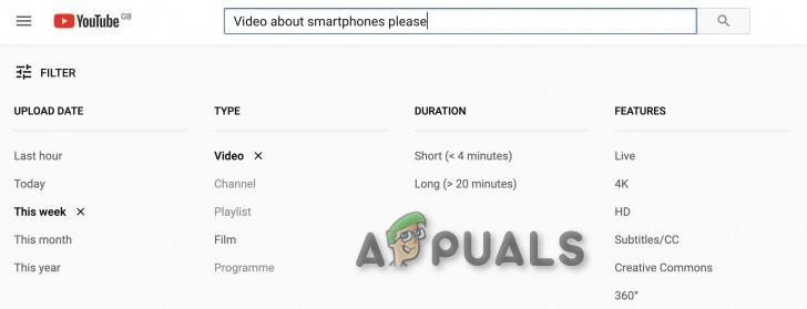 YouTube-Filter funktionieren nicht?  Folge diesen Schritten