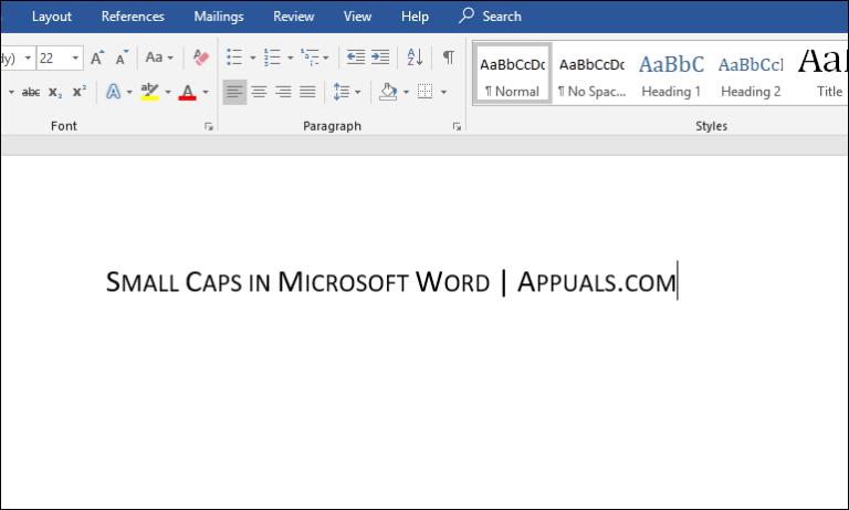 Wie mache ich Small Caps in Microsoft Word?