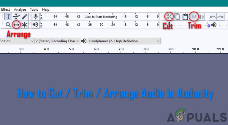 Wie schneide / schneide / arrangiere ich Audio in Audacity?