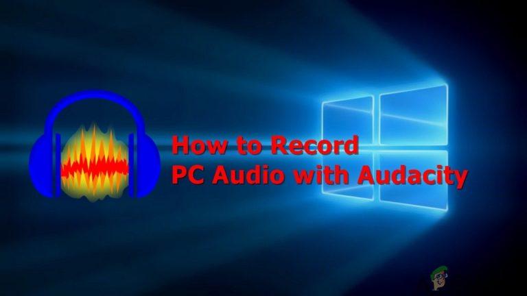 So nehmen Sie Ihr PC-Audio mit Audacity auf