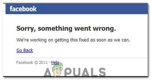 Facebook-Anmeldefehler 'Entschuldigung, etwas ist falsch gelaufen'