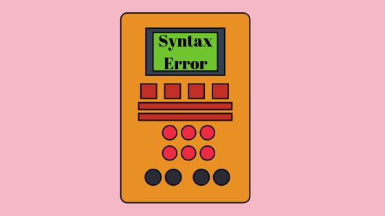 Was ist ein Syntaxfehler?