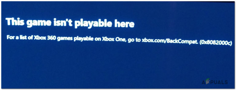Wie behebe ich den Abwärtskompatibilitätsfehler 0x8082000c auf Xbox One?