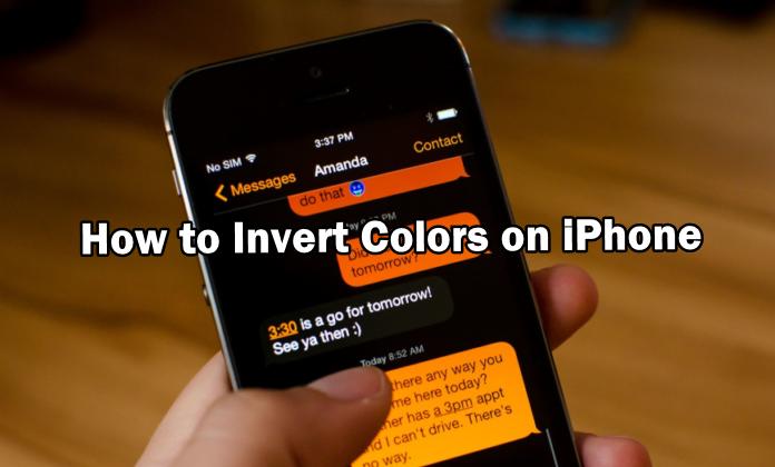 So invertieren Sie Farben auf dem iPhone
