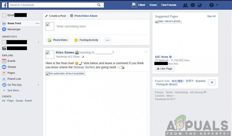 Wie behebt man, dass Facebook-Bilder nicht geladen werden?