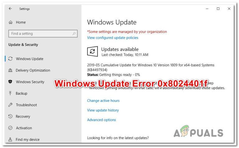 Wie behebt man den Windows Update-Fehler 0x8024401f?