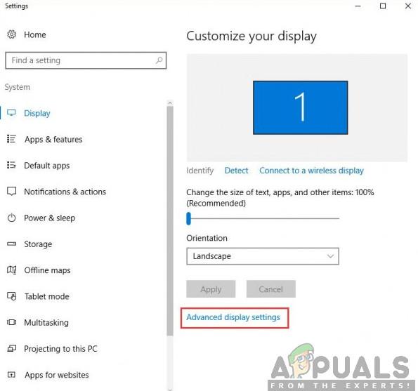 Wie behebe ich die in Windows 10 fehlenden erweiterten Anzeigeeinstellungen?