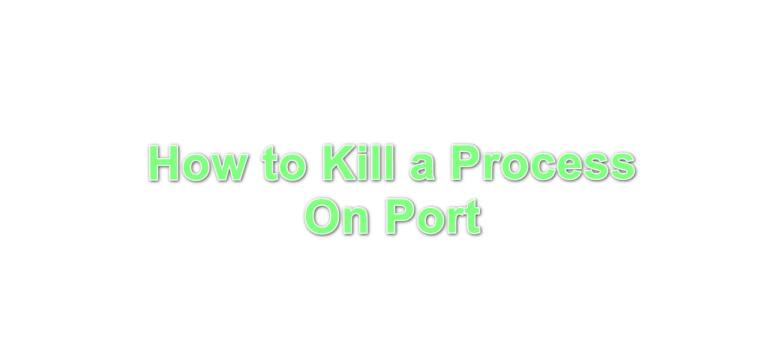 Wie kann ich den Prozess am Port beenden?