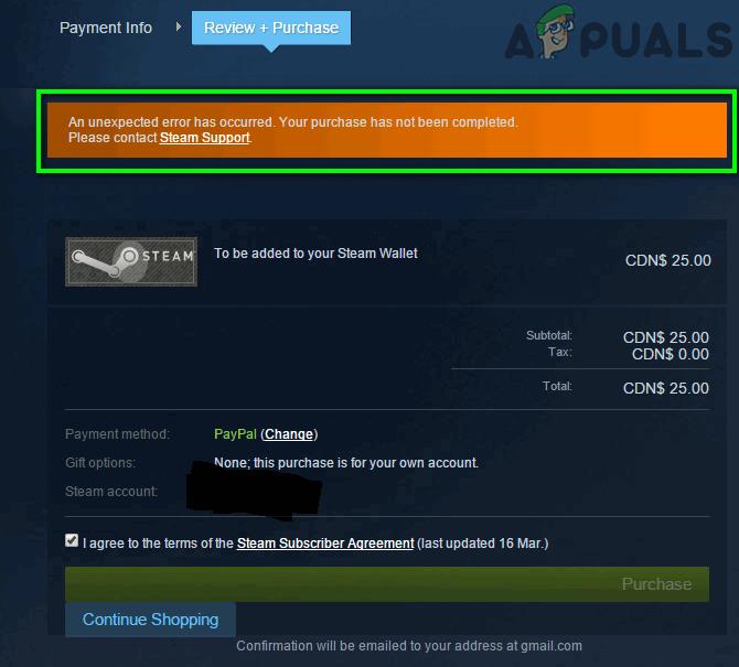"""Fix: Fehlermeldung """"Ein unerwarteter Fehler ist aufgetreten"""" beim Kauf im Steam Store"""