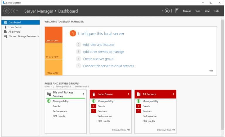 Installieren Sie die Hyper-V-Rolle in Windows Server 2019