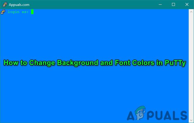 PuTTy anpassen: Ändern Sie die Hintergrund- und Schriftfarben in PuTTy