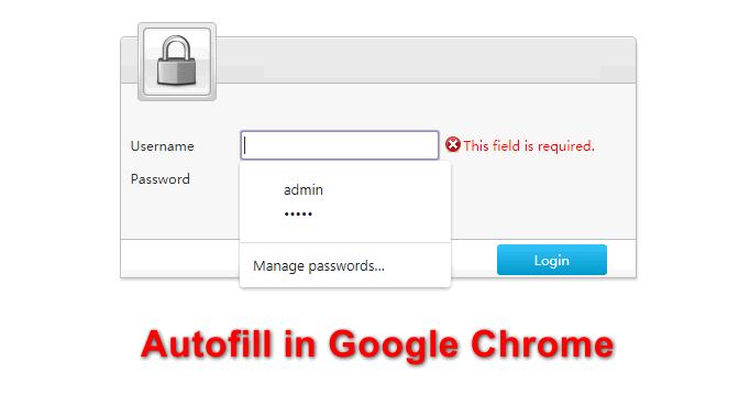 Autofill-Einträge aus Google Chrome entfernen