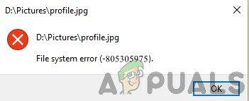 Fix: Dateisystemfehler (-805305975)