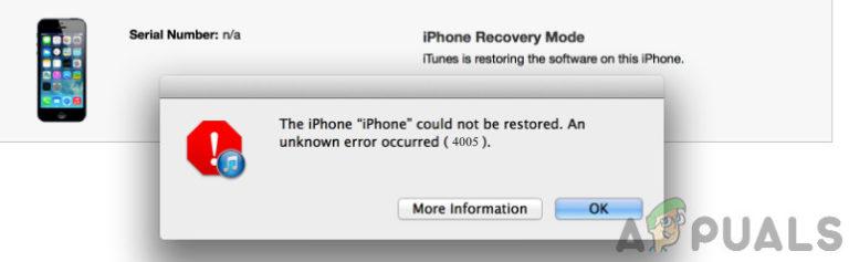 Wie behebe ich den iPhone-Wiederherstellungsfehler 4005?