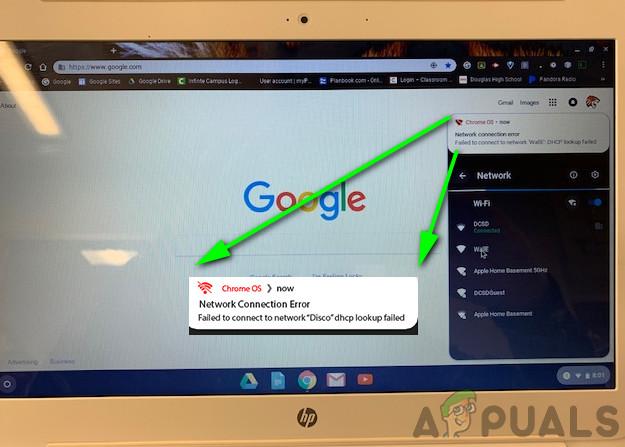 Fix: DHCP-Suche in Chromebook fehlgeschlagen