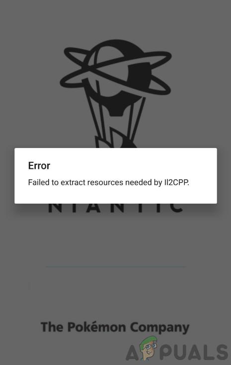 Fix: Fehler beim Extrahieren der von IL2CPP benötigten Ressourcen