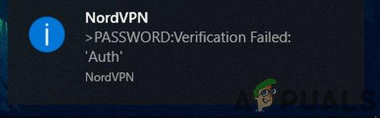 Fix: NordVPN-Passwortüberprüfung fehlgeschlagen 'Auth'