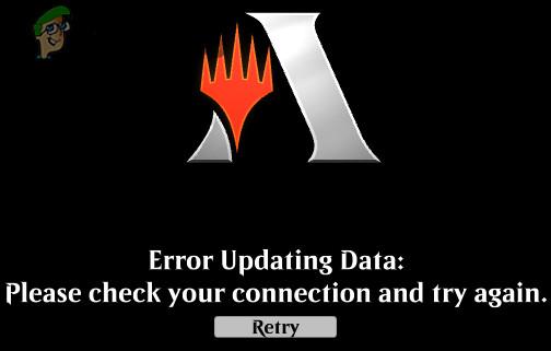 Fix: MTG Arena Fehler beim Aktualisieren der Daten