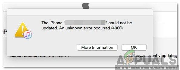 Wie behebe ich 'Update Error 4000' auf dem iPhone?