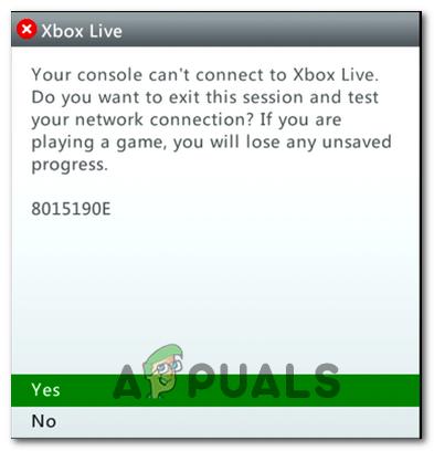 Wie behebe ich den Xbox Live-Fehler 8015190E?