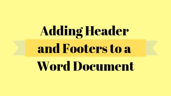 So erstellen Sie eine andere Kopf- und Fußzeile für die erste Seite eines Word-Dokuments