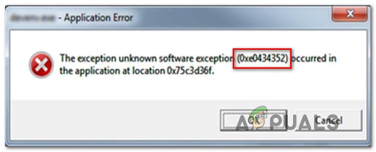 Wie behebe ich den Anwendungsfehler 0xe0434352 unter Windows?