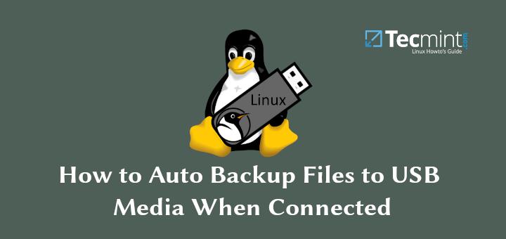So sichern Sie Dateien automatisch auf USB-Medien, wenn eine Verbindung besteht