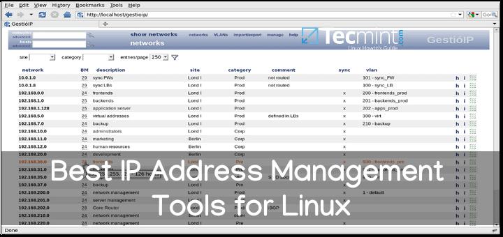 Beste IP-Adressverwaltungstools für Linux