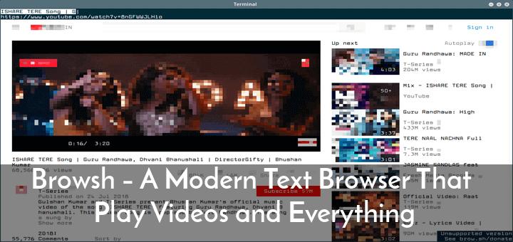 Browsh – Ein moderner Textbrowser, der Videos und alles abspielt