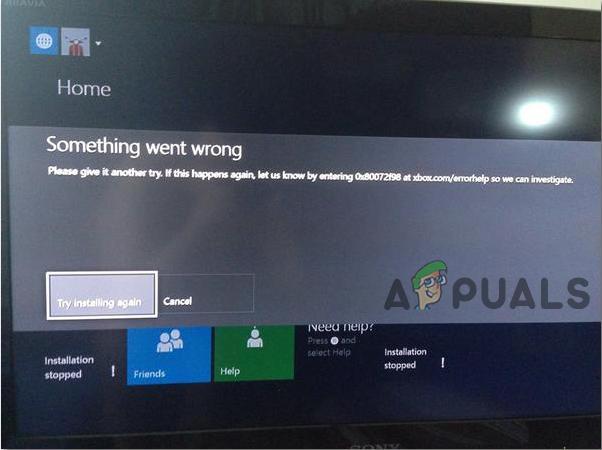 Fix Installation Gestoppte Xbox auf externer Festplatte