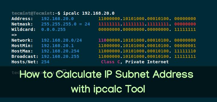 So berechnen Sie die IP-Subnetzadresse mit dem ipcalc Tool