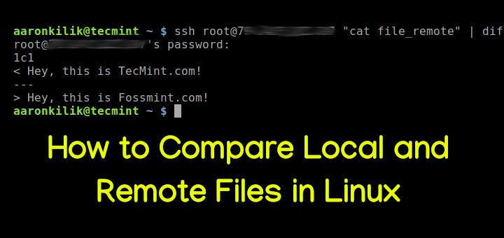 So vergleichen Sie lokale und Remote-Dateien unter Linux